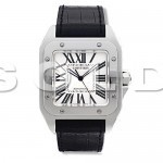 SOLD-cartier-santos-100-stainless-steel-ref-w20073x8