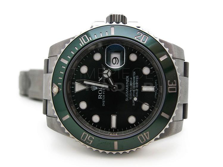 Rolex Submariner Green Dial Green Bezel- 116610LV ...