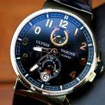Ulysse Nardin 18k Rose Gold Marine Chronometer 1186-126-42 h